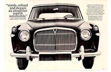 1960 ROVER 3-LITER ~ ORIGINAL 2-PAGE PRINT AD