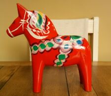 "Large 24.5cm 9⅝"" Akta Dalahemslojd Swedish Dala Horse Erik Pell Nils Olsson Red"