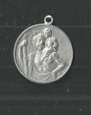 ancient medal de San Cristobal medalla santino image pieuse andachtsbild