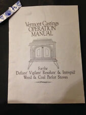 Vermont Castings Vigilant resolute intrepid defiant  wood stove manual operation