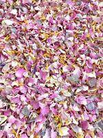 Pink Grey Yellow Rose Petals Natural Biodegradable Wedding Confetti Dried Flower
