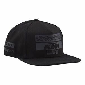 Troy Lee Designs 2019 KTM Team Blackout Adjustable Hats Snapback Cap