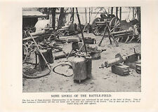 1918 WW1 WORLD WAR I WWI PRINT ~ FLAME-PROJECTOR FLAMMENWERFER SPOILS OF WAR