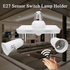 E27 Double Head Infrared PIR Motion Sensor LED Light Lamp Bulbs Holder