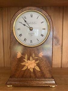 Knight Gibbins Mantel Clock Inlaid Wood
