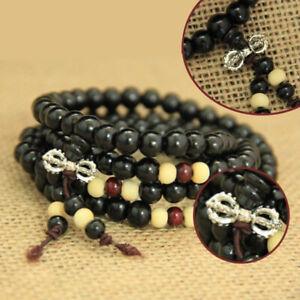 Buddhist Prayer Mala Beads 6mm 108 Beads Bracelet Necklace