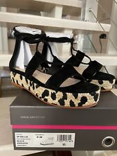 NIB Vince Camuto Kellia Espadrille Platform Sandal Shoes Black Size 8.5