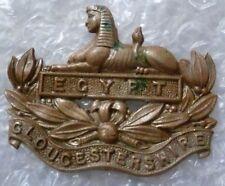 Badge- Gloucestershire Regiment Cap Badge - EGYPT Badge (WM*)
