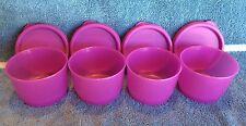 Tupperware SNACK CUPS w/Seals ~ Purple/Pink ~ Set of 4 ~ 4 oz. ~ BRAND NEW!
