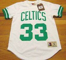 MITCHELL & NESS NBA BOSTON CELTICS LARRY BIRD WHITE MESH JERSEY SIZE S 32