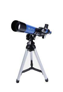 MaxUSee F40040M Telescope with Tripod & Finder Scope, Portable Telescope. New