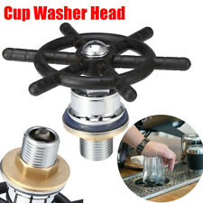 Pro Cafe Bar Countertop Cup Glasses Rinse Cleaner Washer Cleaning Washing Device