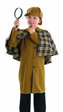 Boys Victorian Detective Costume Kids Historical Sleuth Fancy Dress Book Week Da