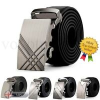 Fashion Business Mens Leather Belt Automatic Buckle Belts Waist Strap Waistband