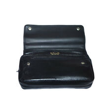 Real Leather Dr Plumb 2 Pipe Combination Tobacco Pouch P25507