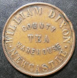 Farthing token - Dixon tea dealer - Newcastle Under Lyme Staffordshire W.3730