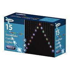 15 LED de luces de cortina de copo de nieve Cambio De Color Navidad Decoración Luces de ventana