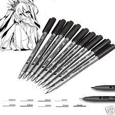 STA Water Based Differ Type Pigment Liner Handwriting Brush Marker Signature Pen