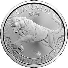 2016 1 oz CD Silver Cougar Predator Series $5 Coin .9999 Fine - (25 coin tube)