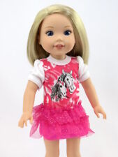 """Sparkle Pony Dress Fits Wellie Wishers 14.5"""" American Girl Clothes"""