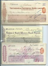 wbc. - CHEQUES - BULK3- USED - 200 cheques -  20 each of 10 diff. see 4 scans