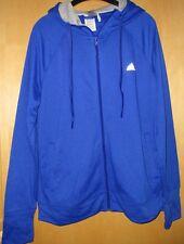 Adidas Jacke Trainingsjacke Sweatjacke Hoodie Kapuze blau royalblau Gr. XL 46 48
