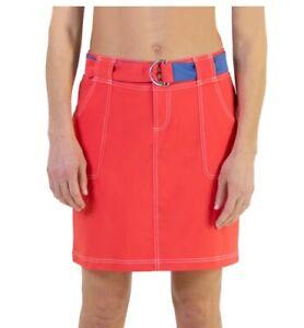 NEW JoFIt Belted Golf Skort Skirt Size 2 Tomato Red NWT