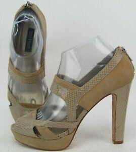 White House Black Market Tallie Neutral Suede Platform Stiletto Heel Shoes 7.5M