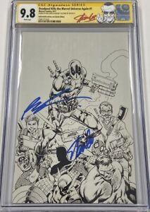 Deadpool Kills Marvel Universe Again #1 B&W Signed Stan Lee & Liefeld CGC 9.8 SS