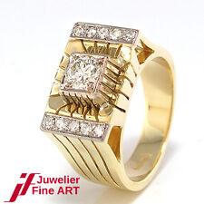 RING 585/14K Gelb-/Weißgold - Diamantbesatz ca. 1,0 ct - 13,2 g - Gr. 57