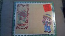 New Sealed Vintage Soroka Raggedy Ann Andy Wall Plaque Cork Bulletin Board