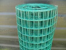 Welded Wire Mesh Roll 0.9x10m Green Plastic PVC Coated Plant Pet Protect Fence