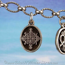 VOODOO - PETITE MEDAL - PAPA LEGBA Veve Charm Pendant 925 Sterling Silver