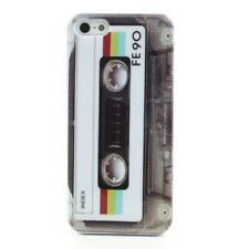 TPU Case Apple iPhone 5 / 5S CASSETTE Musik-Kassette Back Cover Schale Vintage