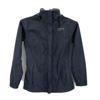 Lauren James Preptec Women's Zip Up Rain Jacket Hooded Hoodie Size M black B3