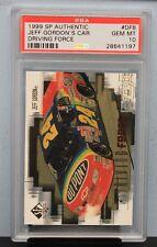 1999 SP AUTHENTIC # DF8 Jeff Gordon's Car PSA 10 GEM MT - PSA # 28641197