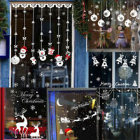 Christmas Snowflake Deer Bell Snowman Wall Sticker Vinyl Decal Home Window Decor