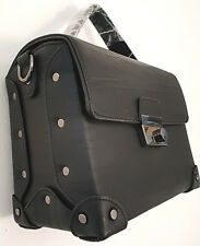 New Women Ladies  Medium Black Box Clutch Handbag Bag