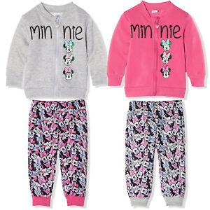 Disney Minnie Maus Baby Mädchen Trainingsanzug Outfit Kleidung Satz Vlies 3-24