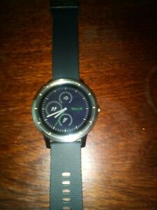 Garmin Vivoactive 3 Stainless Steel Case Black GPS Watch - 0100176910