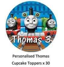 30 x Thomas The Tank Engine Personalised Cupcake Toppers Fairy Cake Toppers