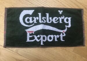 New Carlsberg bar mat towel collectorable mancave golf towel
