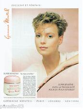 PUBLICITE ADVERTISING 115  1984  Les cosmétiques GERMAINE MONTEIL Super Sens
