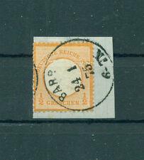 Echte Briefmarken aus dem deutschen Reich (1875-1899) mit Briefstück