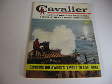 Vintage CAVALIER magazine APR 1959 WHALE HUNTERS;HOLLYWOOD EXPOSE;BUSINESS BABES