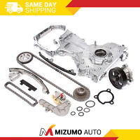 Timing Chain Kit Cover Water Oil Pump for 02-06 Nissan QR25DE Altima Sentra Fit