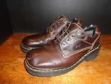 Vintage Dr. Marten Brown Leather Oxford Shoes Size 8 US/ 6 UK Made in England