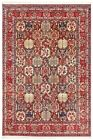 Hand Knotted Wool Bakhtiari Red Tribal Nomadic Oriental Area Rug Carpet 9 x 12