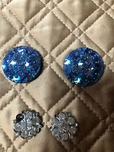 Two Pair of Jeweled Buttons