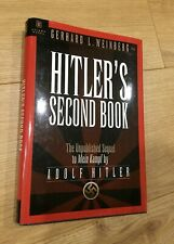 Gerhard Weinberg HITLER'S SECOND BOOK unpublished sequel hardback 1st ed VG+